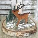 Mesél az erdő, Dekoráció, Karácsonyi, adventi apróságok, Otthon, lakberendezés, Ünnepi dekoráció, Karácsonyi dekoráció, Asztaldísz, Virágkötés, Egy gyertyás asztaldísz. Mérete: 20cm, Meska