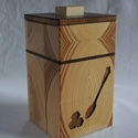 Barnacukros doboz, Dekoráció, Konyhafelszerelés, Fűszertartó, Famegmunkálás, Mindenmás, Barnacukros doboz, lézerrel vágott mintával. Az előlap két rétegű (különböző színű fákból készült)...., Meska