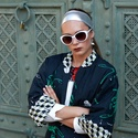 Bogaras kabát, Ruha, divat, cipő, Női ruha, Kabát, Varrás, Pamut vászonból készült, bogár mintás, háromnegyedes kabát. Bélése selyem, ezért csak átmeneti idős..., Meska