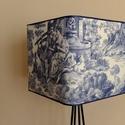 Lámpabúra romantikus tájképpel, Otthon, lakberendezés, Lámpa, Asztali lámpa, Állólámpa, Mindenmás, Egyedi lámpabúra asztali, illetve álló lámpához.  Mérete : 35cm átmérőjű kocka, magasság 31 cm   A ..., Meska