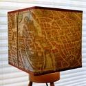 Lámpabúra párizsi térképpel 1615-ből, Otthon, lakberendezés, Lámpa, Állólámpa, Asztali lámpa, Mindenmás, Egyedi lámpabúra asztali, illetve álló lámpához.  Mérete : 20 cm x 20 cm kocka, magasság 20 cm   A ..., Meska