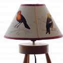 Lámpabúra madaras metszetekkel, C. d'Orbigny (1841-1849), Otthon, lakberendezés, Lámpa, Állólámpa, Asztali lámpa, Mindenmás, Egyedi asztali lámpabúra , Mérete : 22 cm átmérőjű kúp, magasság 14 cm  A képen látható lámpabúrána..., Meska