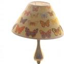 Lepkés lámpabúra, Otthon, lakberendezés, Lámpa, Asztali lámpa, Hangulatlámpa, Mindenmás, Egyedi lámpabúra asztali  lámpához.  Mérete : 20 cm átmérőjű kúp, magasság 12 cm  A képen látható l..., Meska