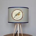 Lámpabúra, Otthon, lakberendezés, Lámpa, Asztali lámpa, Hangulatlámpa, Egyedi lámpabúra asztali  lámpához.  A lámpabúra elkészítéséhez madár témájú metszetet..., Meska