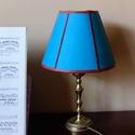 Kékeszöld  selyem lámpabúra eladó, Otthon, lakberendezés, Lámpa, Állólámpa, Asztali lámpa, Kisméretű asztali lámpára lámpabúra eladó.   A képen látható lámpabúrának az alapanyaga..., Meska