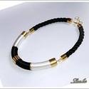 Jin-jang nyakék, Ékszer, Nyaklánc, a nyakéket  mostantól újra lehet rendelni ezüst illetve arany színben is. ajánlott hossza: 42-46 cm ..., Meska
