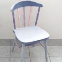MAMA szék, BABA szobába, Baba-mama-gyerek, Bútor, Gyerekszoba, Szék, fotel, Famegmunkálás, Festészet, Mostanában nemcsak ékszereket készítek, hanem bele szerettem a bútor felujításba is.  Sajnos rokona..., Meska