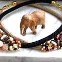 Natúr szépség gyöngy nyakék, Ékszer, Nyaklánc, Ékszerkészítés,  többféle ásván, kristály és üveg  gyöngyből állítom össze ezeket a szépséges nyakékeket.   hossza ..., Meska