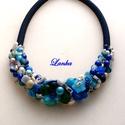 Kékimádóknak  prémium gyöngy  nyakék, Lapis lazuli, jáde, hegyi kristály  kagyló és ...
