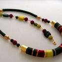 Akció 3 darabos  Lanka szett fonalékszer,  Őszi színekből összeállított nyakék, fonal...