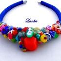Gyümölcs koktél Lanka nyakék, A nyakékhez a tálban látható gyöngyökből  h...