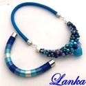 Kék tó Dupla  nyakék, Egy zsinórral megoldható, cserélhető ékszered...