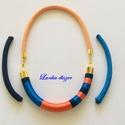 fonal nyakék narancs - királykék színben, élénk  színekből össze állított, selyemfona...