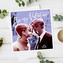 VALENTINE vintage képeslap, Képzőművészet, Naptár, képeslap, album, Illusztráció, Képeslap, levélpapír, Vintage stílúsu csajos képeslap, egyedi grafikával. Ajándéknak, kis meglepésnek tökéletes. ..., Meska