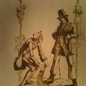 Falikép-Dekoráció, Dekoráció, Kép, 4mm vastag bükk rétegelt lemezre,pirográf technikával készített falikép,bekeretezve. A kép h..., Meska