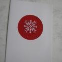 Karácsonyi képeslap, A hímzés készen kapható paszpartuba került. A...