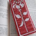 Rózsás könyvjelző, Keresztszemes hímzéssel készült ez a könyvjel...