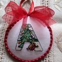 ABC-s karácsonyi dísz