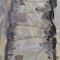 Hunertwasser ihlette selyemsál - szürke, A képen látható selyemsál elkészítéséhez H...