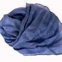 """""""levendula""""  selyemsál , Ruha, divat, cipő, Női ruha, Kissé lilás árnyalatú kék selyemsál - a levendulaszín kedvelőinek.. Tisztaselyem, kb. 40x150 cm.  Na..., Meska"""