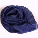 """""""kék éj""""  selyemsál , Ruha, divat, cipő, Női ruha, Selyemfestés, Kissé lilás árnyalatú sötét kék.. Valódi tisztaselyem sál, kb. 40x150 cm.  Nagyon mutatós, kellemes..., Meska"""