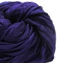 """""""indigó""""  selyemsál , Ruha, divat, cipő, Női ruha, Kissé kékes árnyalatú mély, telt lila.. Valódi tisztaselyem sál, kb. 40x150 cm.  Nagyon mutatós, kel..., Meska"""