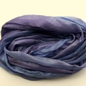 """kék + lila selyemsál, Ruha, divat, cipő, Női ruha, Selyemfestés, Közepes árnyalatú lila, melyet kis kék """"bejátszás"""" tesz különlegessé.. Valódi tisztaselyem,kb. 40x1..., Meska"""