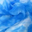 """""""tengerkék"""" kis selyemkendő 55x55cm, Ruha, divat, cipő, Női ruha, Selyemfestés, Vidám kis kendőcske a kékek kedvelőinek; Valódi tisztaselyem, kb. 55x55 cm. (átló hossza 85 cm )  N..., Meska"""