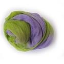 lila+zöld nagy géz-sál, Ruha, divat, cipő, Női ruha, Festett tárgyak, Üde és különleges színkoktél lilából és friss zöldből.. Mérete: kb90x170cm(be van szegve)  Pihe-puh..., Meska