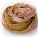 """""""parfé"""" selyemsál, Ruha, divat, cipő, Női ruha, Selyemfestés, Leheletfinom rózsa vegyül szelíd aranybarnába; kellemes, őszies színvilág... .Valódi tisztaselyem s..., Meska"""