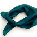 """""""smaragd"""" kis selyemkendő 55x55cm, Ruha, divat, cipő, Női ruha, Kis kendőcske  - ezúttal intenzív türkiz-zöldben. Valódi tisztaselyem, kb. 55x55 cm. (átló hossza 85..., Meska"""