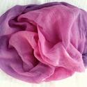 Rózsa-lila nagy géz-sál, Ruha, divat, cipő, Női ruha, Festett tárgyak, Lila - pink átmenetes géz-sál.. ...Mérete kb 90x170cm(be van szegve)  Pihe-puha gézkendő, nagyon ke..., Meska