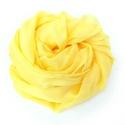 sárga selyemsál, Ruha, divat, cipő, Női ruha, Selyemfestés, Középvilágos, üde kis sárga; valódi tisztaselyem sál, kb. 40x150 cm.  Nagyon mutatós, kellemes, pih..., Meska