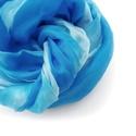 """""""Azúr-part"""" selyemsál , Ruha, divat, cipő, Női ruha, A tenger színei ezúttal selyemben:-) Élénk, üde kék és halványabb türkizes árnyalatok összjátéka.. T..., Meska"""