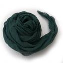 """""""fenyves"""" sötétzöld nagy géz-sál , Ruha, divat, cipő, Női ruha, A zöldek sötét, hűvös árnyalatú képviselője.. Mérete kb 90x170 cm(be van szegve)  Pihe-puh..., Meska"""