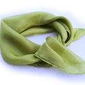 """""""tavaszi emlék"""" kis selyemkendő, Ruha, divat, cipő, Női ruha, Pasztelles, kellemes zöld árnyalat - nemcsak tavszra:-).. Valódi tisztaselyem, kb. 55x55 cm, átlóban..., Meska"""