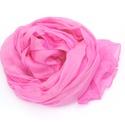 Rózsaszín selyemsál , Ruha, divat, cipő, Női ruha, Finom, mégis üde, hűvös árnyalat az igazi Nőnek:-) Tisztaselyem, kb. 40x150 cm.  Nagyon mutatós, kel..., Meska