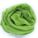 """""""friss"""" zöld nagy géz-sál , Ruha, divat, cipő, Női ruha, Kellemes, lágyabb árnyalatú középvilágos zöld... Mérete kb 90x170 cm(be van szegve)  Pihe-pu..., Meska"""