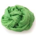 """""""alma"""" zöld selyemsál , Ruha, divat, cipő, Női ruha, Egyszínű, kellemesen üde zöld - a javából:-). Valódi tisztaselyem sál, kb. 40x150 cm.  Nagyon mutató..., Meska"""