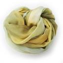 """""""déli szellő"""" selyemsál , Ruha, divat, cipő, Női ruha, Különleges, finom darab meleg árnyalatú pasztellszínek (okkeres, szürkés, zöldes)sejtelmes keverékéb..., Meska"""