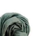 """""""fenyves"""" hamvas-zöld selyemsál , Ruha, divat, cipő, Női ruha, Hamvas, hűvös árnyalatú szürkés-zöld. Tisztaselyem, kb. 40x150 cm.  Nagyon mutatós, kellemes, pihekö..., Meska"""
