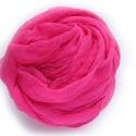 pink nagy géz-sál , Ruha, divat, cipő, Női ruha, Festett tárgyak, Pink, középvilágos, üde árnyalatban. Mérete: kb90x170cm  (be van szegve)  Pihe-puha gézkendő, nagyo..., Meska