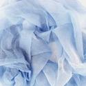 """""""fátyolfelhő"""" nagy géz-sál, Ruha, divat, cipő, Női ruha, Világos kék, amit kisebb fehér """"felhőcskék"""" tesznek még légiesebbé.. Mérete kb 90x170cm(be van szegv..., Meska"""
