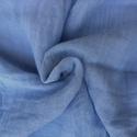 világoskék nagy géz-sál , Ruha, divat, cipő, Női ruha, Üde, közép-világos árnyalatú kék; ...Mérete kb 90x170 cm(be van szegve)  Pihe-puha gézkendő, nagyon ..., Meska