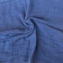 """""""kékség"""" nagy géz-sál, Ruha, divat, cipő, Női ruha, Középsötét kék, ezúttal egyszínű változatban..... Mérete kb 90x170cm(be van szegve)  Pihe-puha gézke..., Meska"""