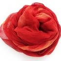 """""""piros naranccsal"""" nagy géz-sál , Ruha, divat, cipő, Női ruha, Életvidám színbomba - piros, kis naranccsal keverve/lazítva.. Mérete:: kb90x170cm ( természetesen be..., Meska"""