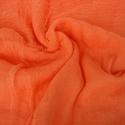 narancs   géz-kendő , Ruha, divat, cipő, Női ruha, Kellemes narancsszín; a négyzet alakú kendő átlósan kisebb sálnak is hordható (hossza így kb. 160 cm..., Meska