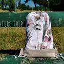 Tulipán tornazsák, NoWaste, Nature Tulp hátizsák kollekció  .100% pamut .bélése natúr pamut .mérete 33x45 cm .egy darab készült ..., Meska