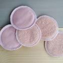 """Pasztell rózsaszín sminklemosó korong, 100% természetes, NoWaste, Textilek, Pamut arctisztító, A hulladékcsökkentő háztartáshoz hozzátartoznak ezek az """"apróságok"""" is, mint a műanyagban kapható va..., Meska"""