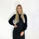 Buggyoska fekete, Ruha & Divat, Női ruha, Ruha, Varrás, Nagyon finom tapintású elasztikus jersey anyag. Buggyos hosszú ujjak. Félhosszú.  Anyag összetétel:..., Meska